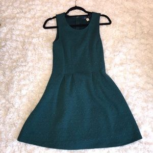 Green patterned dress